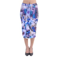 Advent Calendar Gifts Velvet Midi Pencil Skirt