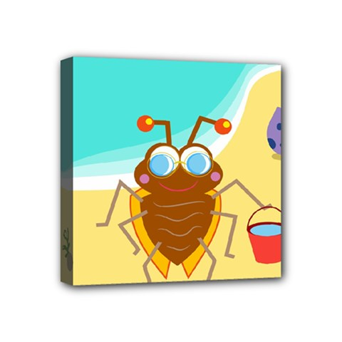 Animal Nature Cartoon Bug Insect Mini Canvas 4  X 4