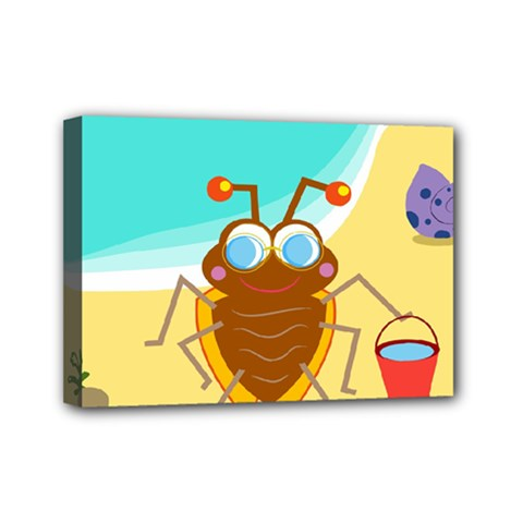 Animal Nature Cartoon Bug Insect Mini Canvas 7  X 5