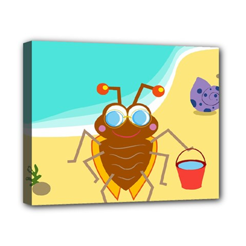 Animal Nature Cartoon Bug Insect Canvas 10  X 8