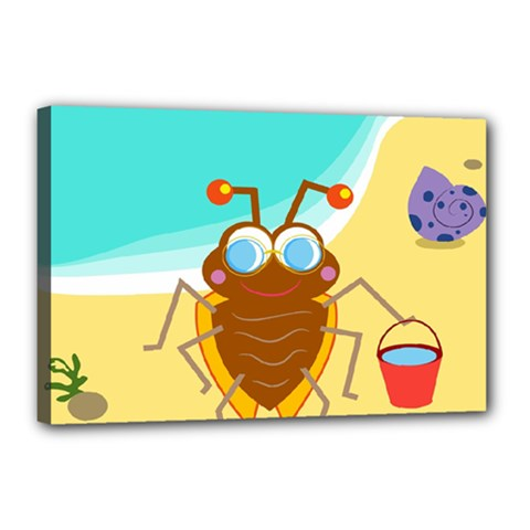 Animal Nature Cartoon Bug Insect Canvas 18  X 12