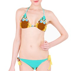 Animal Nature Cartoon Bug Insect Bikini Set by Nexatart