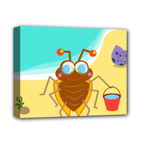 Animal Nature Cartoon Bug Insect Deluxe Canvas 14  X 11