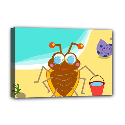 Animal Nature Cartoon Bug Insect Deluxe Canvas 18  X 12