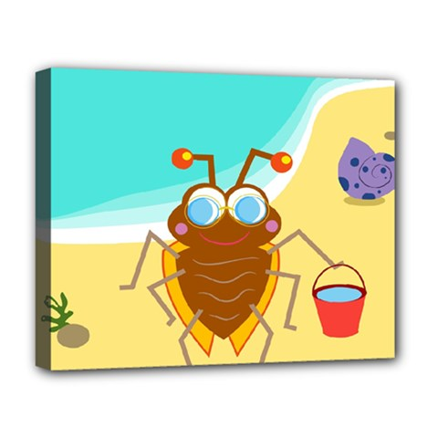 Animal Nature Cartoon Bug Insect Deluxe Canvas 20  X 16