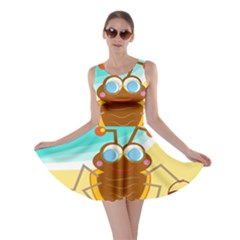 Animal Nature Cartoon Bug Insect Skater Dress
