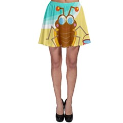 Animal Nature Cartoon Bug Insect Skater Skirt