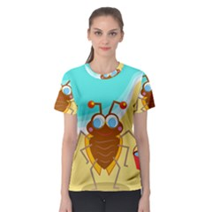 Animal Nature Cartoon Bug Insect Women s Sport Mesh Tee