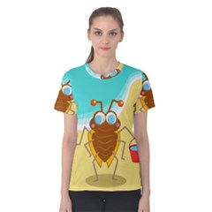 Animal Nature Cartoon Bug Insect Women s Cotton Tee