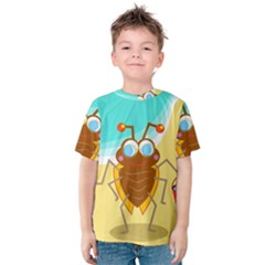 Animal Nature Cartoon Bug Insect Kids  Cotton Tee