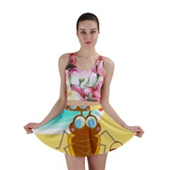 Animal Nature Cartoon Bug Insect Mini Skirt