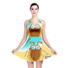 Animal Nature Cartoon Bug Insect Reversible Skater Dress