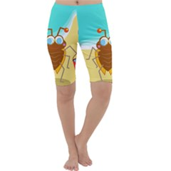 Animal Nature Cartoon Bug Insect Cropped Leggings