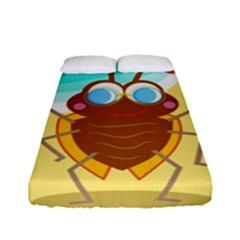 Animal Nature Cartoon Bug Insect Fitted Sheet (full/ Double Size)