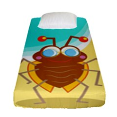 Animal Nature Cartoon Bug Insect Fitted Sheet (single Size)