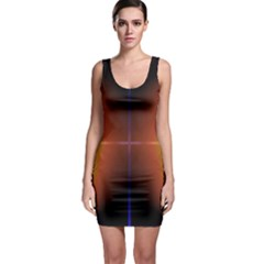 Abstract Painting Sleeveless Bodycon Dress