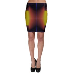 Abstract Painting Bodycon Skirt