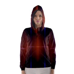 Abstract Painting Hooded Wind Breaker (women)