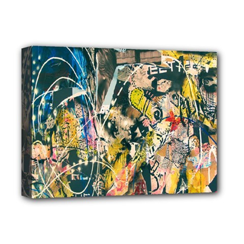 Art Graffiti Abstract Lines Deluxe Canvas 16  X 12   by Nexatart