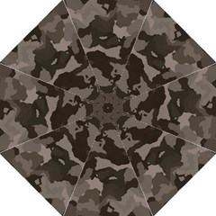 Background For Scrapbooking Or Other Camouflage Patterns Beige And Brown Hook Handle Umbrellas (medium) by Nexatart