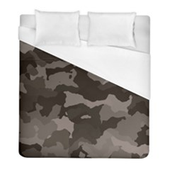 Background For Scrapbooking Or Other Camouflage Patterns Beige And Brown Duvet Cover (full/ Double Size) by Nexatart