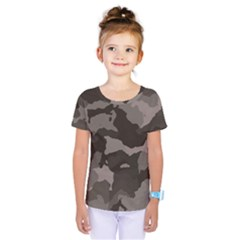 Background For Scrapbooking Or Other Camouflage Patterns Beige And Brown Kids  One Piece Tee