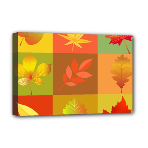 Autumn Leaves Colorful Fall Foliage Deluxe Canvas 18  X 12   by Nexatart