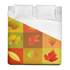 Autumn Leaves Colorful Fall Foliage Duvet Cover (full/ Double Size) by Nexatart