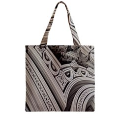 Arches Fractal Chaos Church Arch Grocery Tote Bag by Nexatart