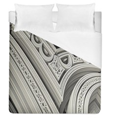 Arches Fractal Chaos Church Arch Duvet Cover (queen Size) by Nexatart