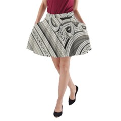 Arches Fractal Chaos Church Arch A Line Pocket Skirt by Nexatart