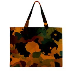 Background For Scrapbooking Or Other Camouflage Patterns Orange And Green Zipper Mini Tote Bag by Nexatart