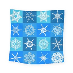 Background Blue Decoration Square Tapestry (small)