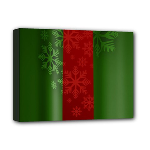 Background Christmas Deluxe Canvas 16  X 12   by Nexatart