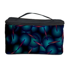 Background Abstract Textile Design Cosmetic Storage Case by Nexatart