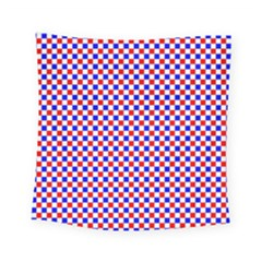 Blue Red Checkered Square Tapestry (small) by Nexatart