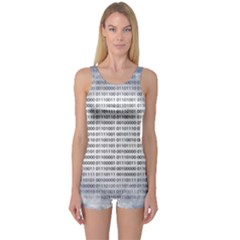 Binary Computer Technology Code One Piece Boyleg Swimsuit by Nexatart