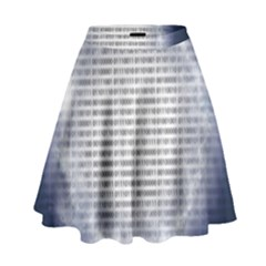 Binary Computer Technology Code High Waist Skirt by Nexatart