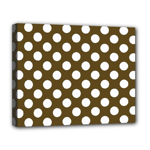 Brown Polkadot Background Deluxe Canvas 20  X 16
