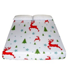 Christmas Pattern Fitted Sheet (california King Size)
