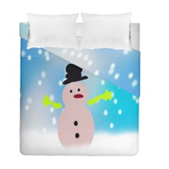 Christmas Snowman Duvet Cover Double Side (full/ Double Size)