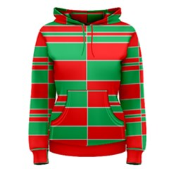 Christmas Colors Red Green Women s Pullover Hoodie