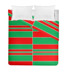 Christmas Colors Red Green Duvet Cover Double Side (full/ Double Size) by Nexatart