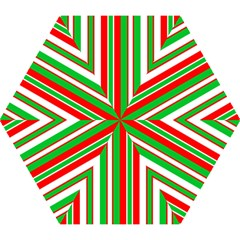 Christmas Holiday Stripes Red Green,white Mini Folding Umbrellas by Nexatart
