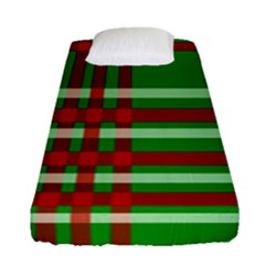 Christmas Colors Red Green White Fitted Sheet (single Size) by Nexatart