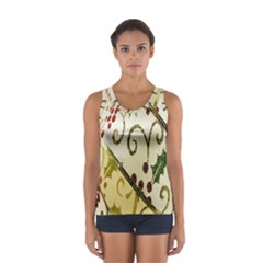 Christmas Ribbon Background Women s Sport Tank Top