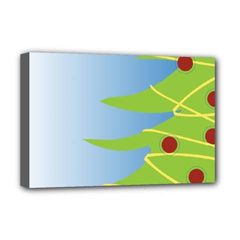 Christmas Tree Christmas Deluxe Canvas 18  X 12   by Nexatart