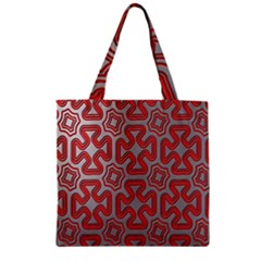 Christmas Wrap Pattern Zipper Grocery Tote Bag