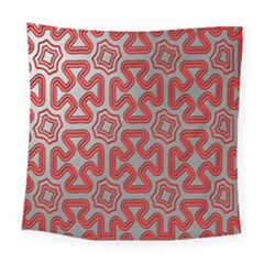 Christmas Wrap Pattern Square Tapestry (large) by Nexatart