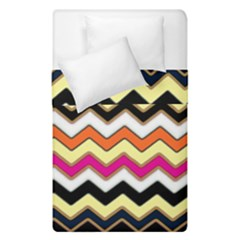 Colorful Chevron Pattern Stripes Duvet Cover Double Side (single Size) by Nexatart